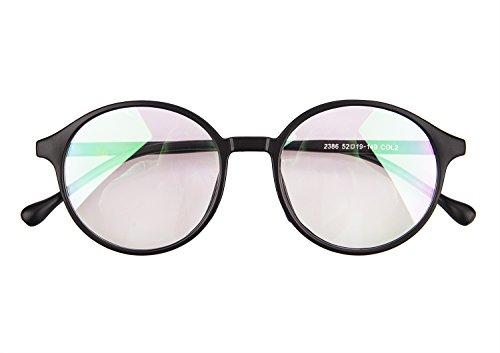 YSXY Klassiche Nerdbrille Sonnenbrille Dekogläser 60er Jahre Retro Vintage Unisex Brille Anti-Strahlung