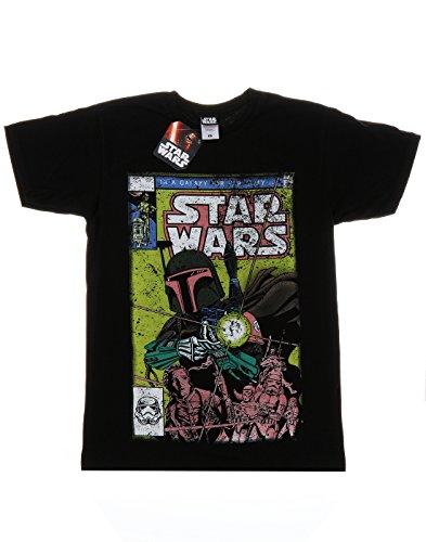 Star Wars Herren Boba Fett Comic T-Shirt XL,Schwarz