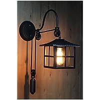 ZQ@QX Parete decorativa tradizionale semplice hotel café ristorante lampada da parete Lampada da parete di ascensore in ferro battuto