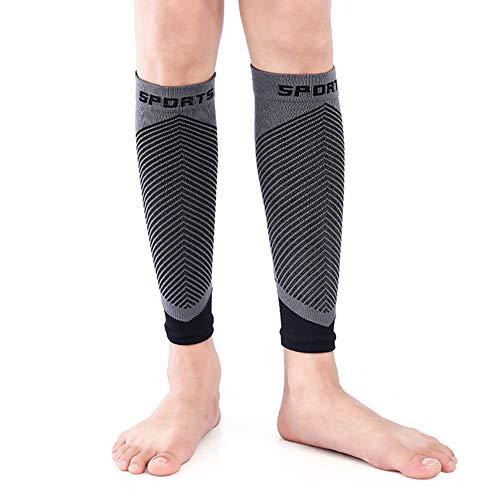 Fahrrad-Socken, 1 Paar Radfahrer-Beinärmel, Beinbandage für MTB Laufen, Fußball, Basketball, Badminton, Sportunterstützung, rutschfest, super elastisch, atmungsaktiv, Größe M für Damen und Herren -