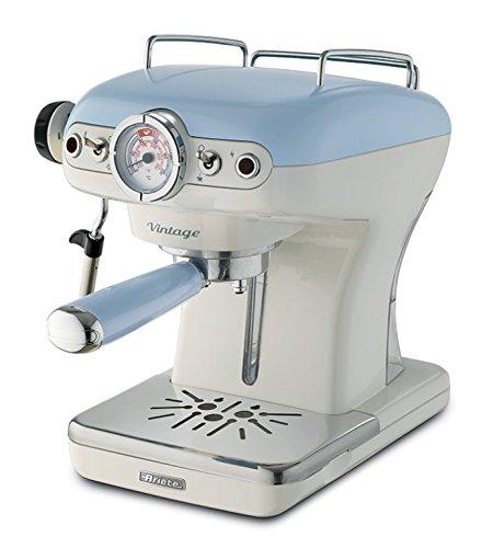 Ariete 1389 00M138915AR0 Siebträger-Espressomaschine Vintage mit Milchaufschäumdüse, 900 W, hellblau, Kunststoff