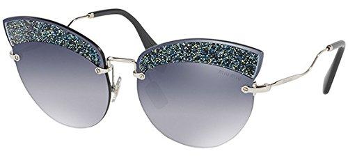 Miu Miu Sonnenbrillen SCENIQUE EVOLUTION SMU 58T SILVER/GREY BLUE SHADED Damenbrillen