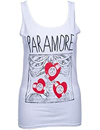 Official Skinny T Shirt PARAMORE White XRAY X-Ray VEST Hearts L 12