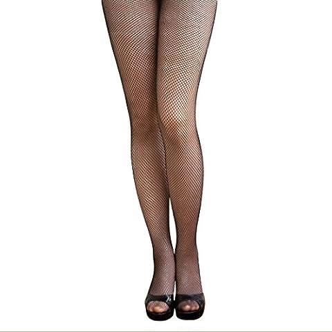 Oblique-Unique® Sexy Schwarze Netz Strumpfhose - feine Maschen (Erwachsen Netzstrumpfhose)