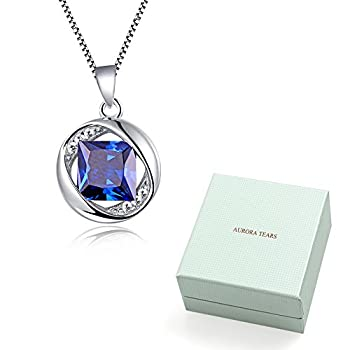 "Aurora Tears Jewellery September Birthstone Sapphire Pendant 925 Sterling Silver Necklace 18"" Dp0029s 7"