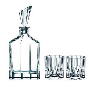 Spiegelau & Nachtmann, 3-teiliges Whisky-Set, Dekanter+ 2x Whisky-Becher, Aspen, 90024