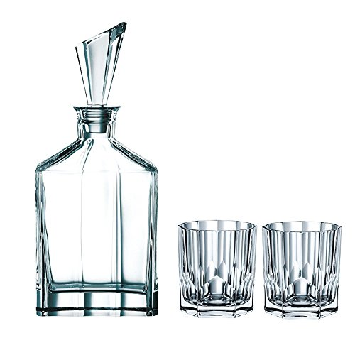 Spiegelau & Nachtmann, 3-teiliges Whisky-Set, Dekanter+ 2x Whisky-Becher, Aspen, 90024 (Kristall Dekanter)