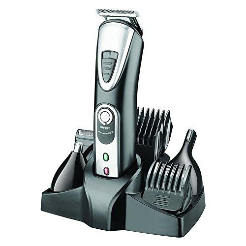 SURKER Profesional 5 en 1 cuchilla eléctrica Men's Trimmer de cuerpo y oído y nariz Hombres cortadora de pelo máquina de afeitar eléctrica Maquinilla de afeitar barba recortadora cortadora recorte de corte de pelo