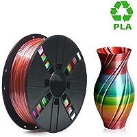 PLA Filament 1.75mm, ERYONE Multicolor Filament PLA 1.75mm, 3D Printing Filament PLA for 3D Printer and 3D Pen