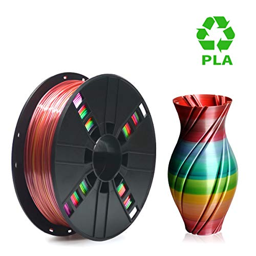 Price comparison product image PLA Filament 1.75mm Rainbow Multicolor,  ERYONE Multicolor Filament PLA 1.75mm,  3D Printing Filament PLA for 3D Printer and 3D Pen,  1kg 1 Spool