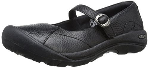 Keen Women's Presidio Mary Jane, Black/Black, 5.5 M US (Leder Keen Mary Janes)