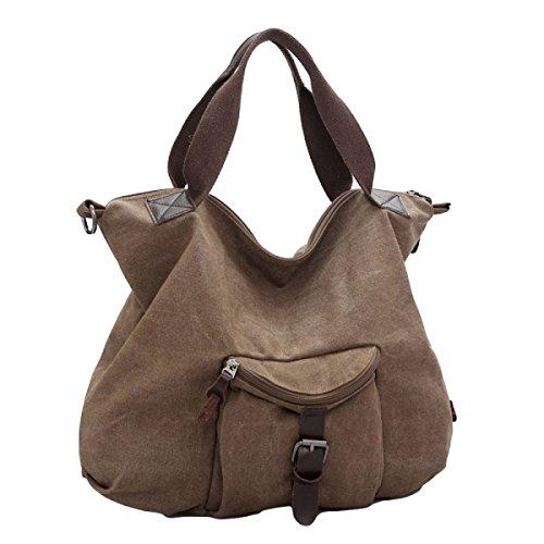Retro-Leinwand Schräg Weibliche Tasche Schultertasche Neutral Retro Einfach Brown