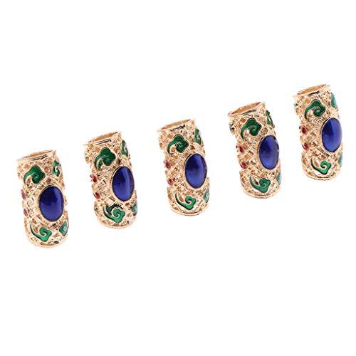 B Baosity 5er Pack Haar Braid Dread Dreadlock-Perlen Flechten Beads Haarverlängerung Metall Perlen für Zöpfe Dreadlocks