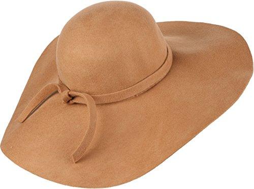 Sakkas Liuliu Vintage Style Large Floppy Hat amovible interchangeable Ruban Bow Beige