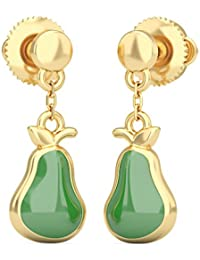 BlueStone 22k (916) Yellow Gold Juicy Pear Drop Earrings