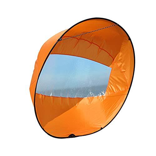 NANAD 106,7 cm Langlebig Windsegel Sup Paddel Board Instant Popup Tragbar Faltbares Windsegel Kajak Segelset für Kajak Boot Segelboot Kanu Faltbar Stil, Orange, Free Size -