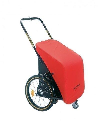 Winther Donkey Classic rot - der praktische Anhänger für`s Fahrrad (Stauraum: 65 Liter /Zuladung: 40 kg) / inkl. Weber-M-Kupplung (für eBikes)