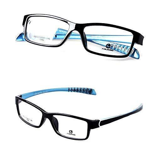 LKVNHP Hochwertige Clip Auf Polarisierte Sonnenbrille Männer Sport Style Sonnenbrille Mit Doppelter Linse Anti Glare Uv400 Myopie Brillen Für Mann Rahmen Und Eine Linse Blaue Schläfe