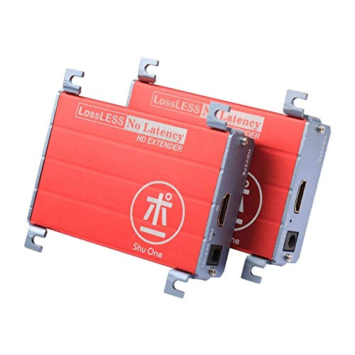 HDMI Extender über Cat5 / Cat5e / Cat6 / Cat6e Single Lan Kabel 100m (328ft) 1080p verlustfrei ohne Verzögerung für DVR, DVD, Heimkino ShuOne378 - Über Cat5e-extender