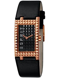 Esprit Damen-Armbanduhr Rocks Houston Rosegold Analog Quarz Leder ES102462005