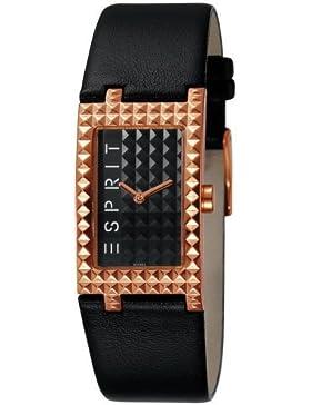 Esprit Damen-Armbanduhr Rocks Houston Rosegold Analog Quarz Leder ES102462005