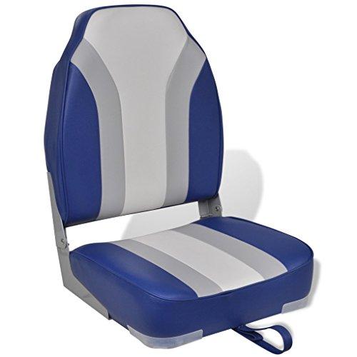 Festnight Klappbarer Bootsstuhl Bootssitz Anglerstuhl Klappstuhl mit hoher Rückenlehne 16,75 x 15,5 x 23,5 cm