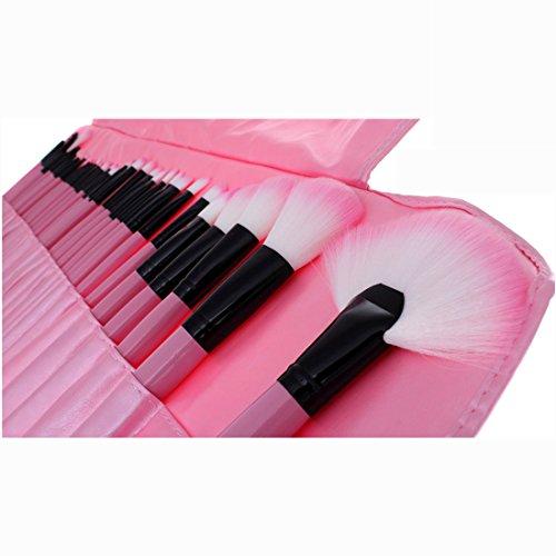 VALUE MAKERS 32pcs Rosa Make Up spazzole-professionale di trucco spazzole-Liquid Foundation fusione ombretto Cream Concealer Brush-Bellezza cosmetici Make Up Set Kit + Borsa Custodia