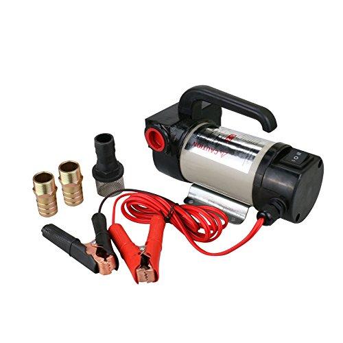 GOGOLO 220W Pompa Diesel Olio Elettrica Trasferimento 12V Auto con Filtro,50L/MIN, Pompa Aspirazione Gasolio 12v, Batteria Auto Alimentata