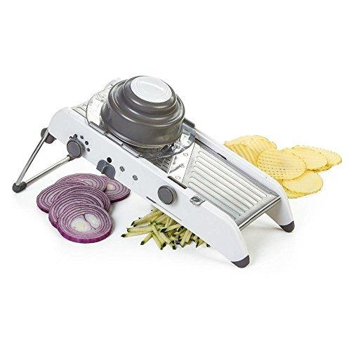 FEELING MALL Adjustable Stainless Steel Mandoline Slicer,Manual Kitchen Cutter Shredder Julienne for Grinding, Cutting,Slicing Fruit Food Vegetables