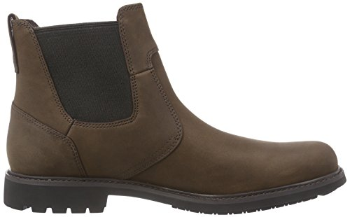 Timberland Men s EK Stormbucks FTM Stormbucks Chelsea Boots  Brown  Burnished Dark Brown Oiled   14 5 UK