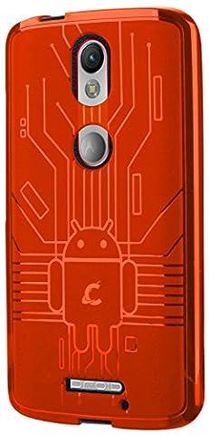 Moto X Force Case, Cruzerlite Bugdroid Circuit Case Compatible for Motorola Moto X Force - Orange