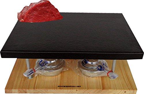 Pizzastein,Grillstein,Heißer- Stein mit zwei Rechaud