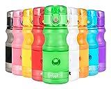 Hook Sport Trinkflasche tritan Wasserflasche - 500ml/750ml/1L - BPA Frei Auslaufsicher Sportflasche Für Kinder & Frauen, Gym, Yoga, Fahrrad, Laufen, Camping, Fitness, Flip Top,öffnet Sich mit 1-Click.