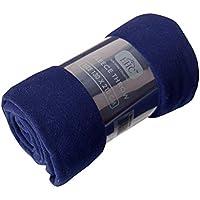 EHC nbsp;Manta polar supersuave, manta térmica, manta de sofá, individual, 130x 210cm, color azul