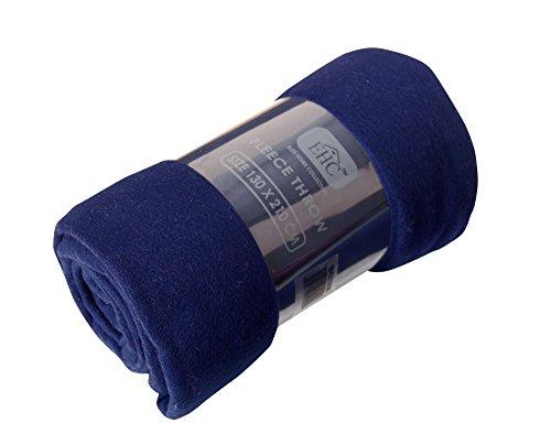 EHC Coperta Plaid Super soffice in Pile Termico per Divano, Blu, Singolo, 130 x 210 cm
