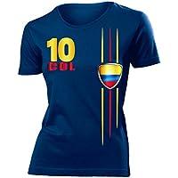 FUSSBALL WM 2018 - KOLUMBIEN FANSHIRT - Damen T-Shirt Gr.S bis XXL - Golebros