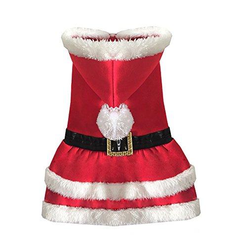 systond Hund Weihnachten Kleid Pet Rock Hund Coat Puppy Kleidung Weihnachten Dog Kleid Up (Up Kleid Kostüme Hund)