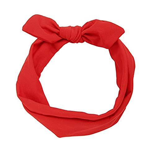 MultiWare Rabbit Ear Hair Bands Women Headbands Red