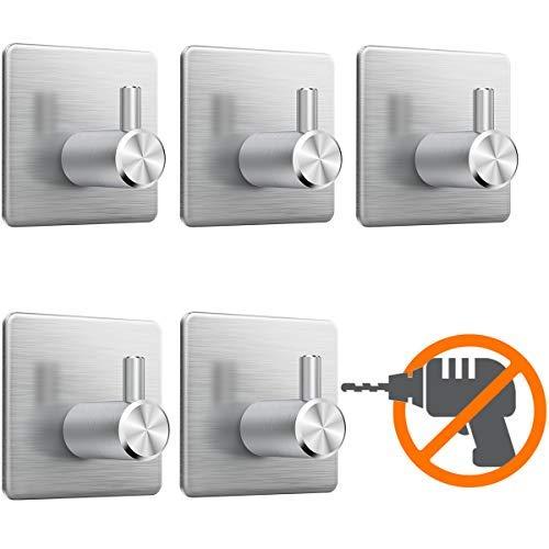 Handtuchhalter bad ohne bohren, Selbstklebend Handtuchhaken, Handtuchhaken ohne bohren edelstahl, Selbstklebende Haken für Küche und Bad