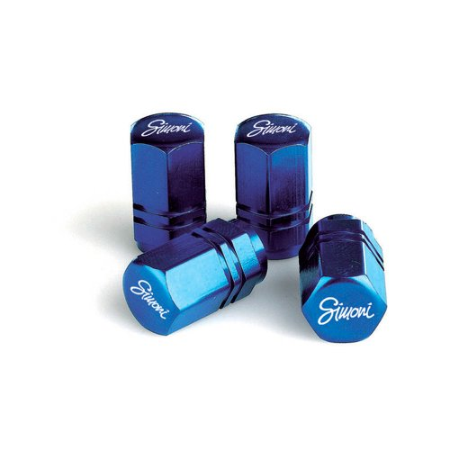 Simoni Racing CAPS2/B Kit 4 Cappucci Valvola Esagonale, Blu