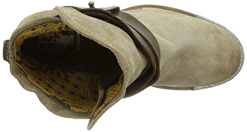 006 Biker Fly dk Beige taupe Boots brown Damen London Lok zzwOBq6