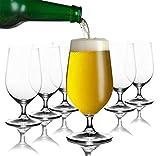 Tivoli Anvers Bicchieri per Birra - 200 ml - Set di 6– Bicchieri di Alta qualità - Lavabili in lavastoviglie – Bicchieri di Cristallo