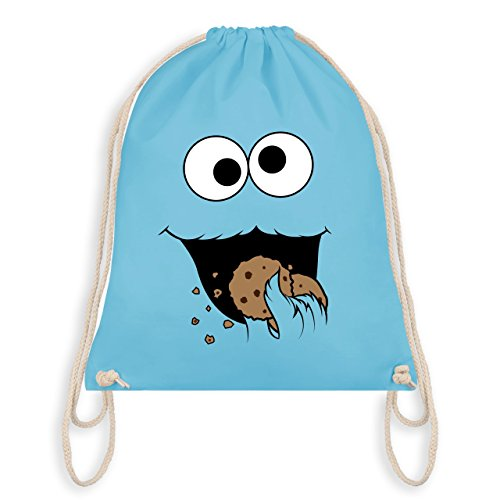 Shirtracer Karneval & Fasching - Keks-Monster - Unisize - Hellblau - WM110 - Turnbeutel I Gym Bag