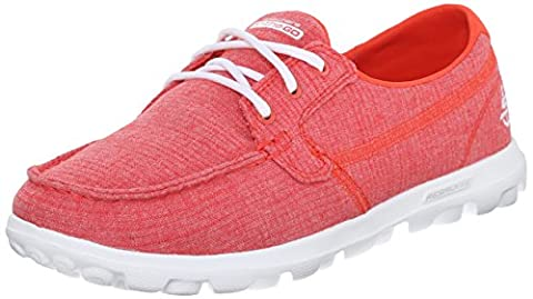 Skechers Performance Womens On-The-Go Mist Boat Shoe, Red Mist, 6 M US