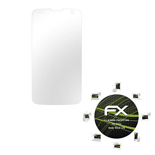 atFolix Bildschirmfolie für Yezz Andy 4EL2 LTE Spiegelfolie, Spiegeleffekt FX Schutzfolie