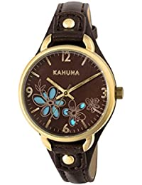 Kahuna Women's Quartz Watch with Brown Dial Analogue Display and Brown PU Strap KLS-0308L