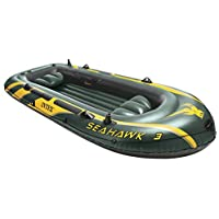 Intex Schlauchboot Mit Ruder Und Angelhalterung Boot Seahawk 3 phthalates Free Barco Hinchable, 295 x 137 x 43cm, Verde, 295 x 137 x 43 cm