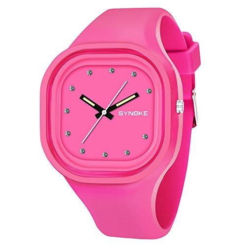 NEEKY Herren-Armbanduhr,Sportuhren,Für Unisex Fitness Uhren - Kinder Jungen Student Wasserdichte Sportuhr LED Digital Datum Armband