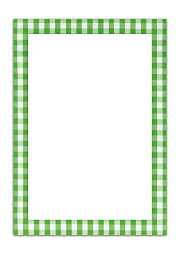 25 Blatt Briefpapier Druckerpapier HELLGRÜN GRÜN weiß kariert einseitig bedruckt RAHMEN 100g Schreibpapier Motiv-Papier DIN A4 Brief-Bogen Bayern bayerisch Design-Papier