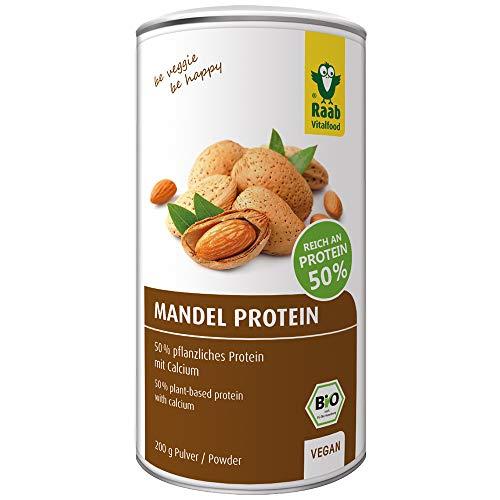 Raab Vitalfood Bio Mandel-Protein mit natürlichem Calcium, teilentölt, vegan, glutenfrei, Eiweiß-Shake; Mandel-Mehl, Mandeldrink 50{b0904b55424bb61224aec8f4f1fb7bb16a20b9f89c91c2c6c931e2e85ba7b0e8} Protein, 200 g